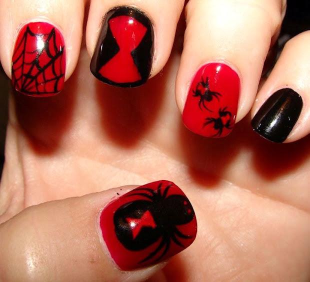 blood red nail design
