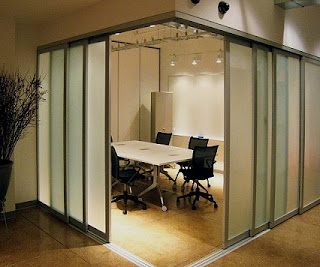 sliding door for office partition
