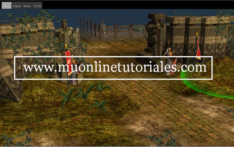 Interfaz del programa con el mapa abierto