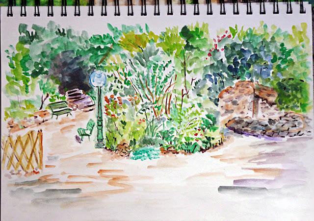 Art de vivre la peinture de peintrefiguratif croquis for Au jardin paris