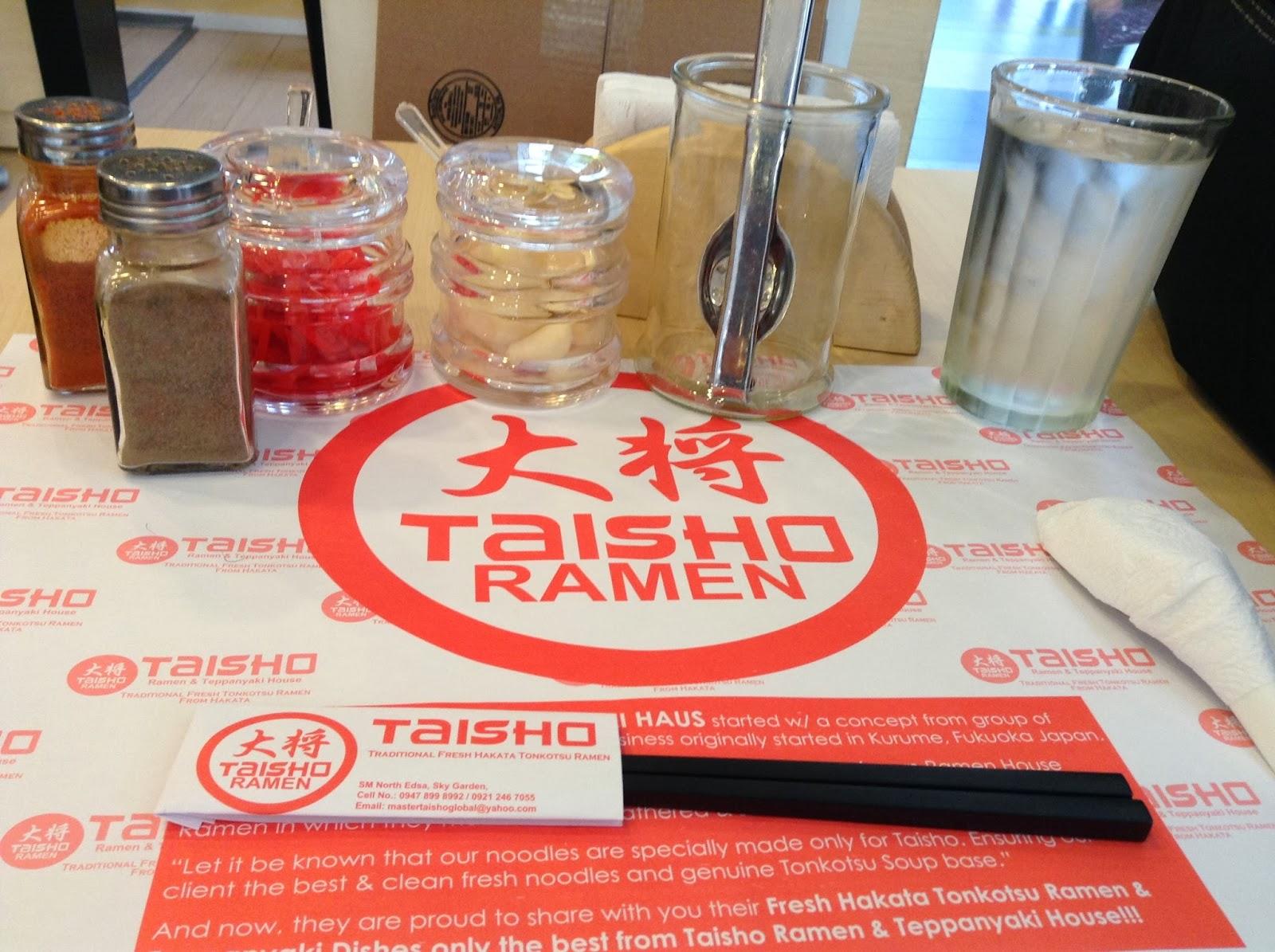 Taisho ramen paper placemat