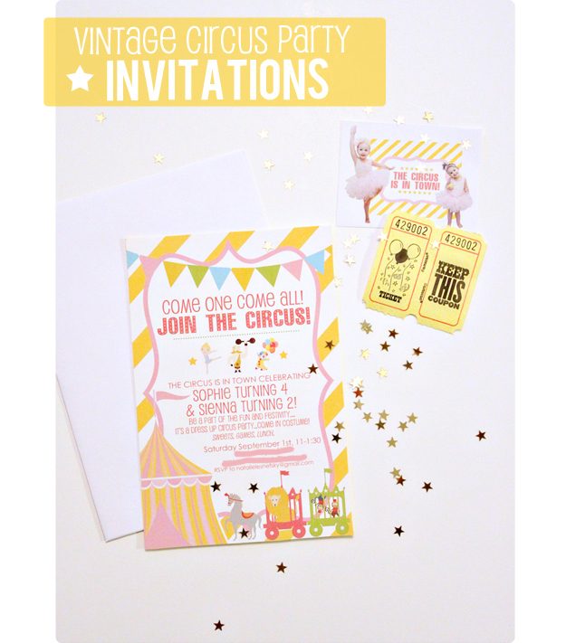 vintage circus party invitation diy touches at home with natalie