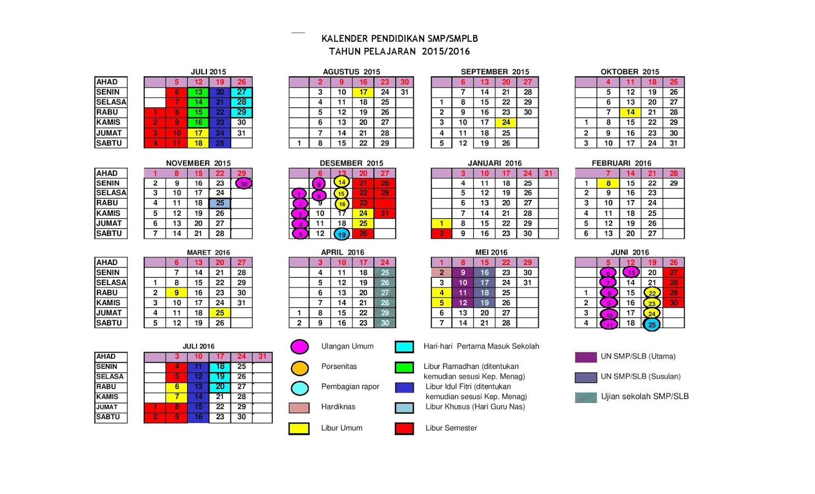 Kalender Pendidikan Tahun 2015/2016 DKI Jakarta - Ruang Kimia