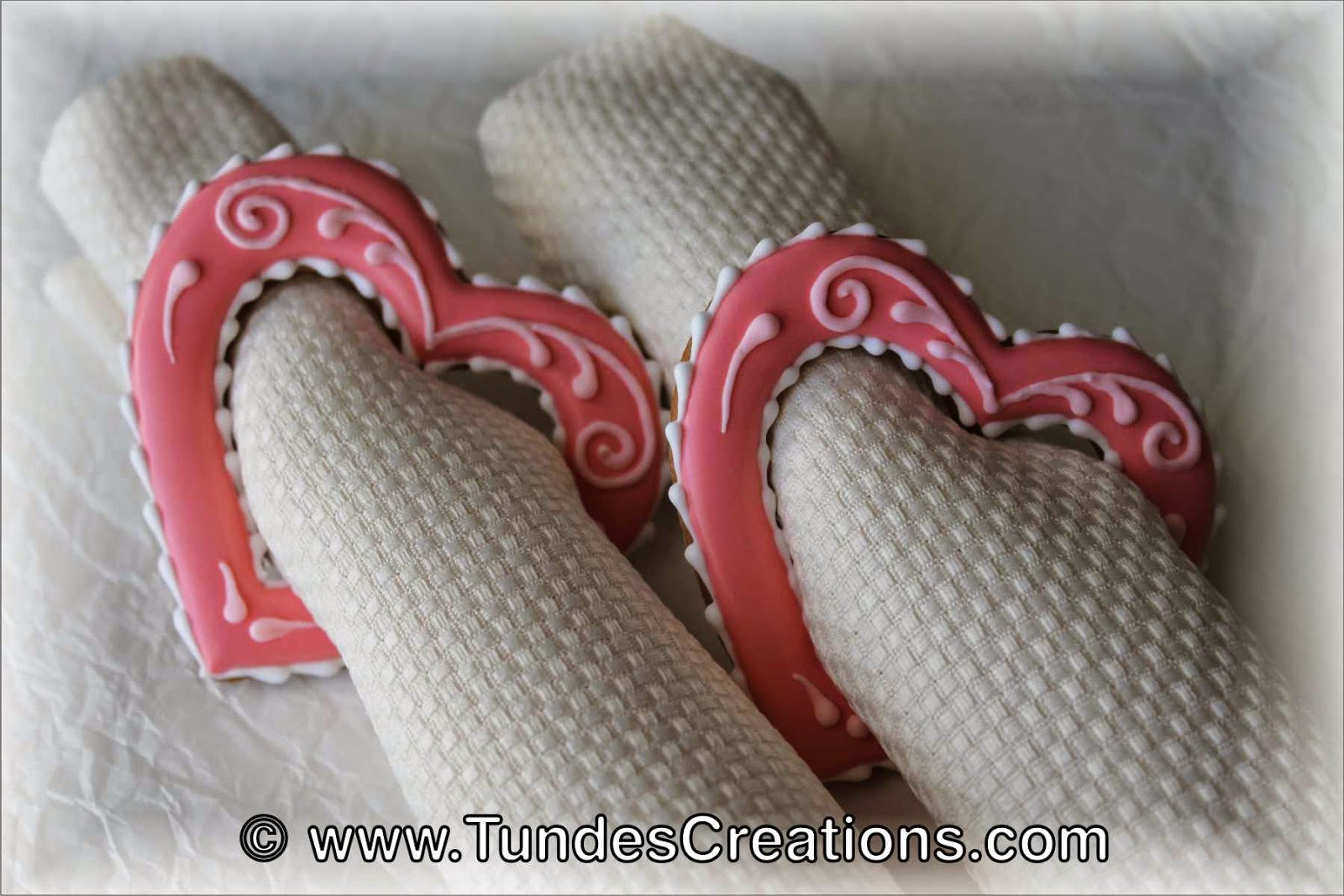 Valentine's cookie napkin ring
