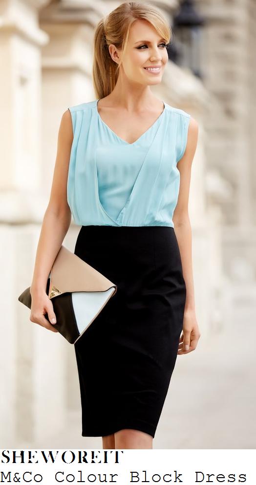 susanna-reid-duck-egg-blue-black-colour-block-dress-good-morning-britain