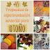 Recursos: +45 Propuestas manipulativas y sensoriales para otoño