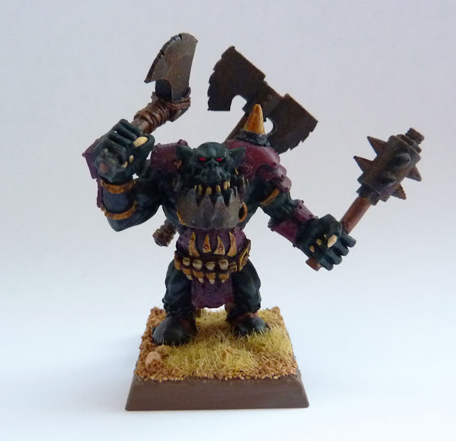 Black Orc Big Boss, Gorkamorka Nob conversion.
