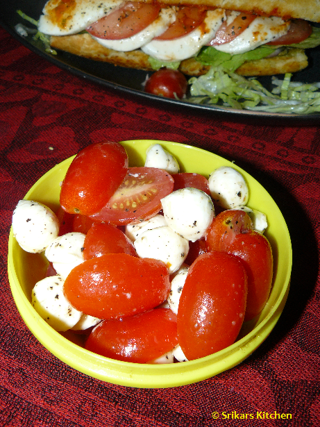 TOMATO MOZZRELLA CHEESE SALAD - ITALIAN SALAD