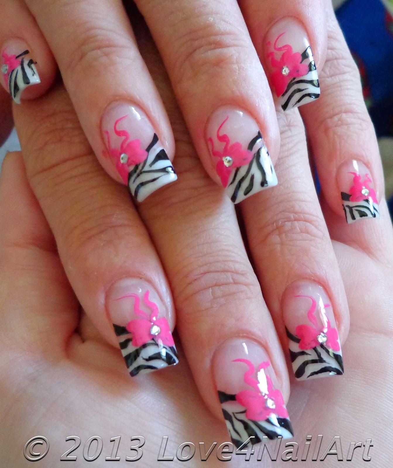 Nails Designs 2014 With Bows Love4NailArt: Zebra Na...