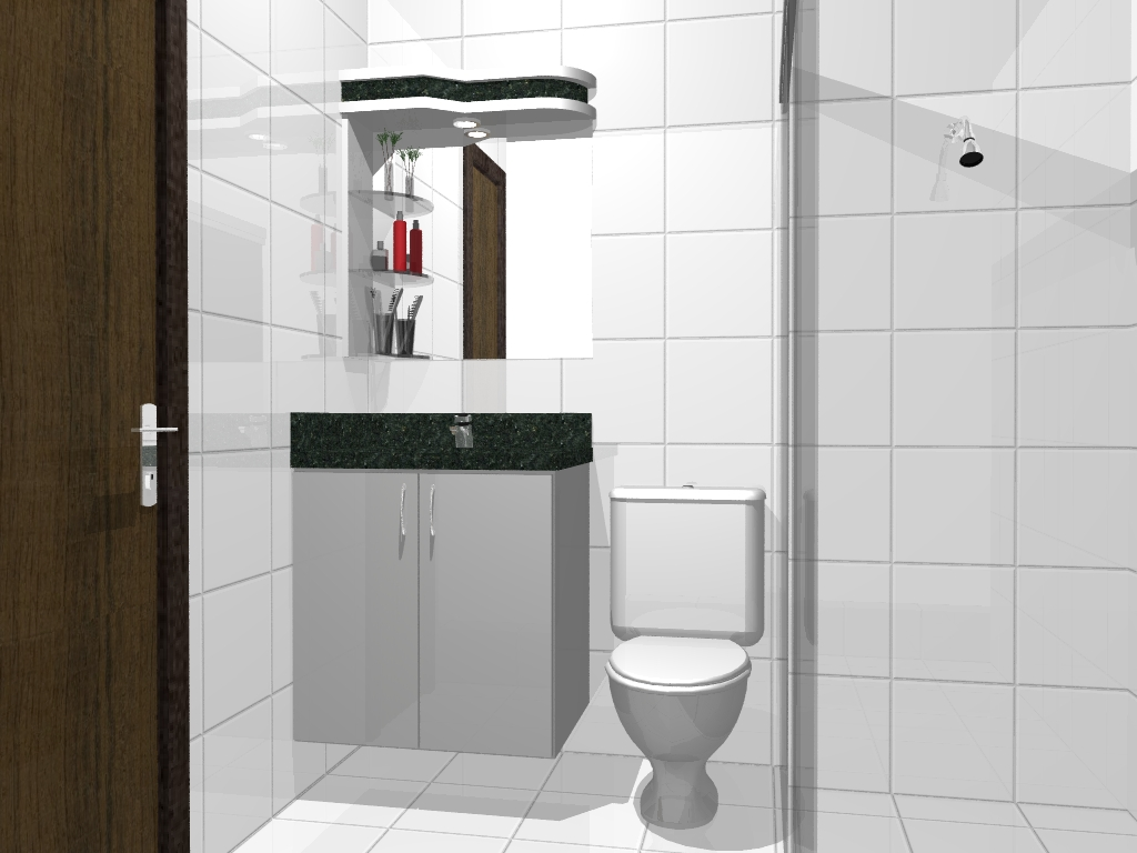 S MARCENARIA: Projetos de Banheiros #A7242A 1024 768
