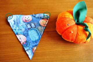 DIY Halloween Fabric Pennant Banner