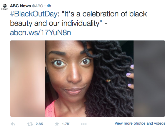 #blackoutday MOVEMENT GOES VIRAL!