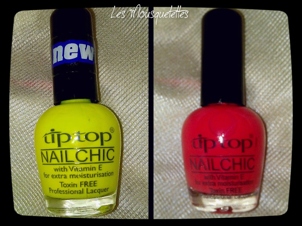 Teinte Walking on Sunshine et Peach Crisp Vernis Tip Top Nail - Les Mousquetettes©