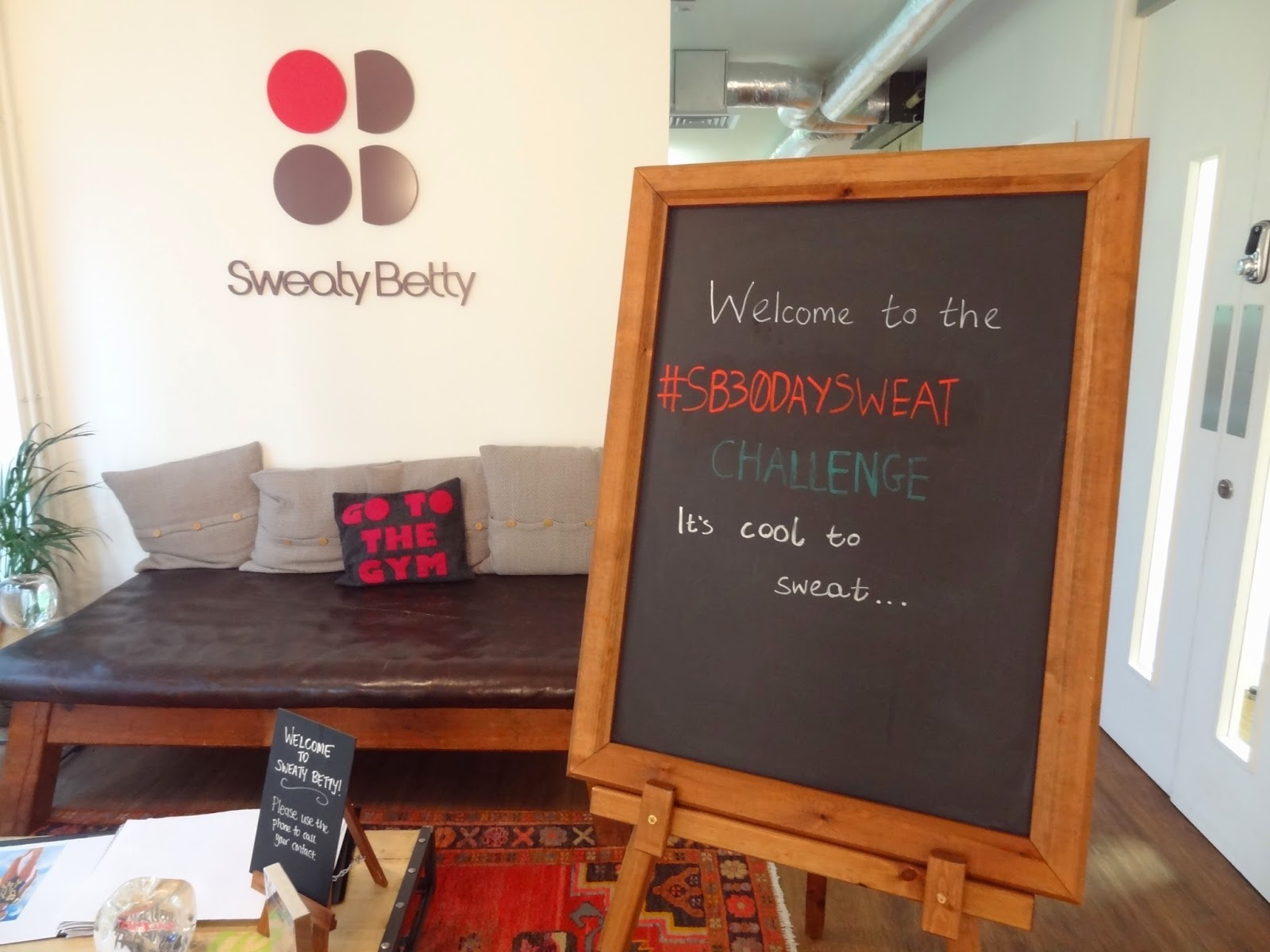 Sweaty Betty GF4F 30 Day Sweat Challenge Launch