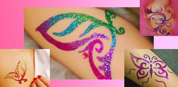tatouage poudre de diamant et ses strasses - Tatouage Paillette Mariage