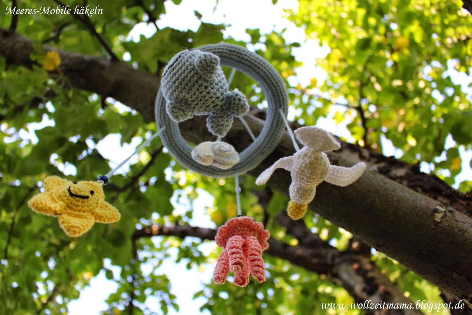 Häkeln für Kinder: Mobile mit Meerestieren, Amigurumi