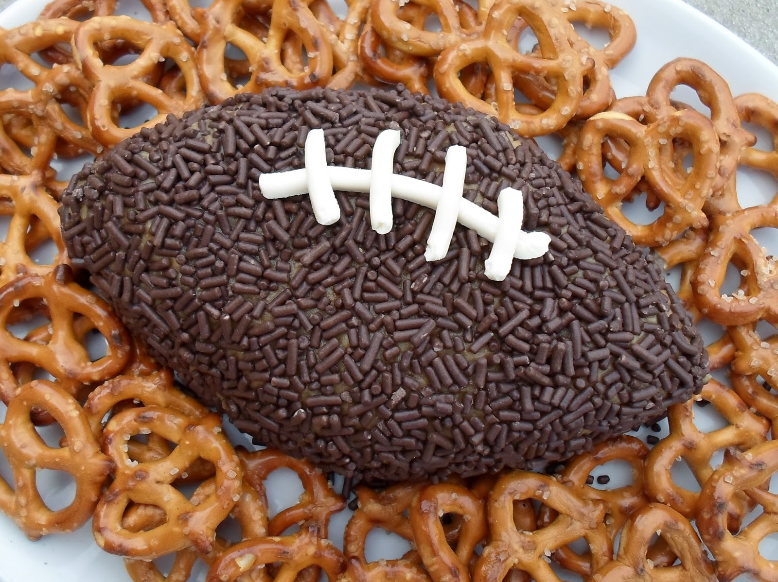 Happier Than A Pig In Mud: Football Shaped Peanut Butter Dip
