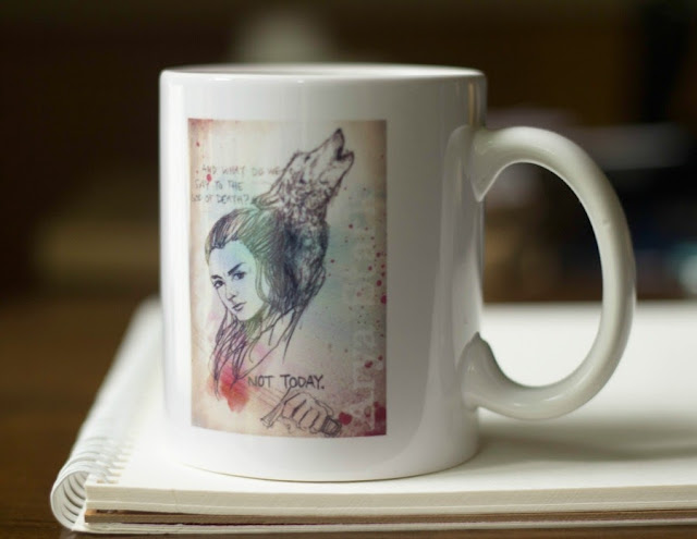 Arya Stark illustrated mug by sketch123