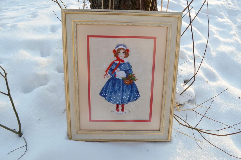 Зимняя девочка вышивка