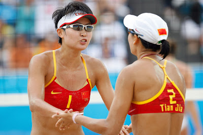 Hot Women beach volleyball