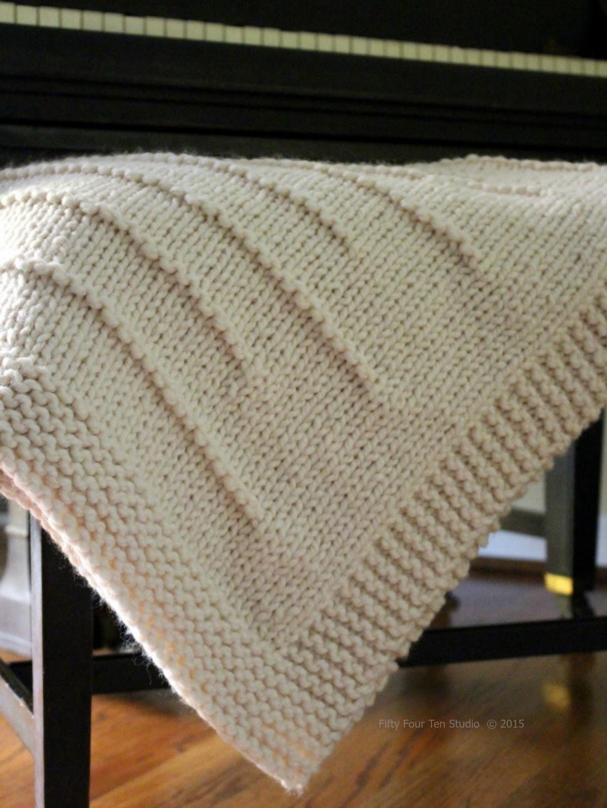Fifty Four Ten Studio: State Line Blanket Knitting Pattern