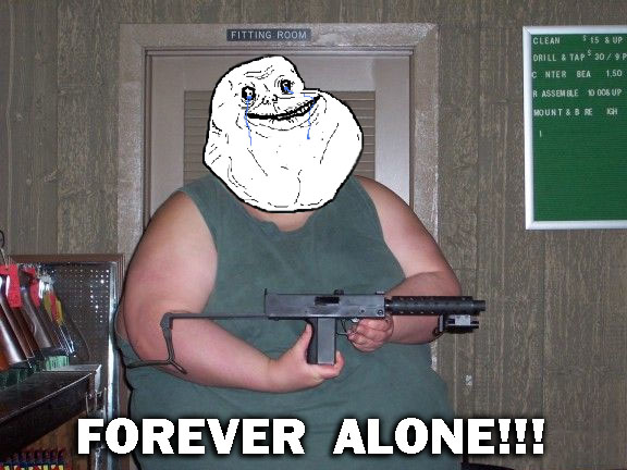 Forever Alone Body Pillow