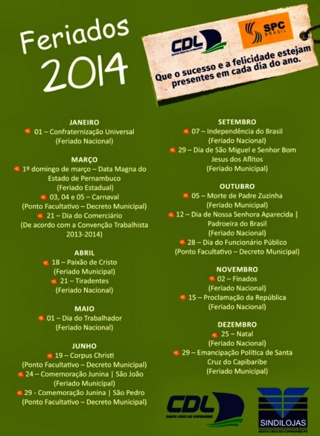 Feriados 2014