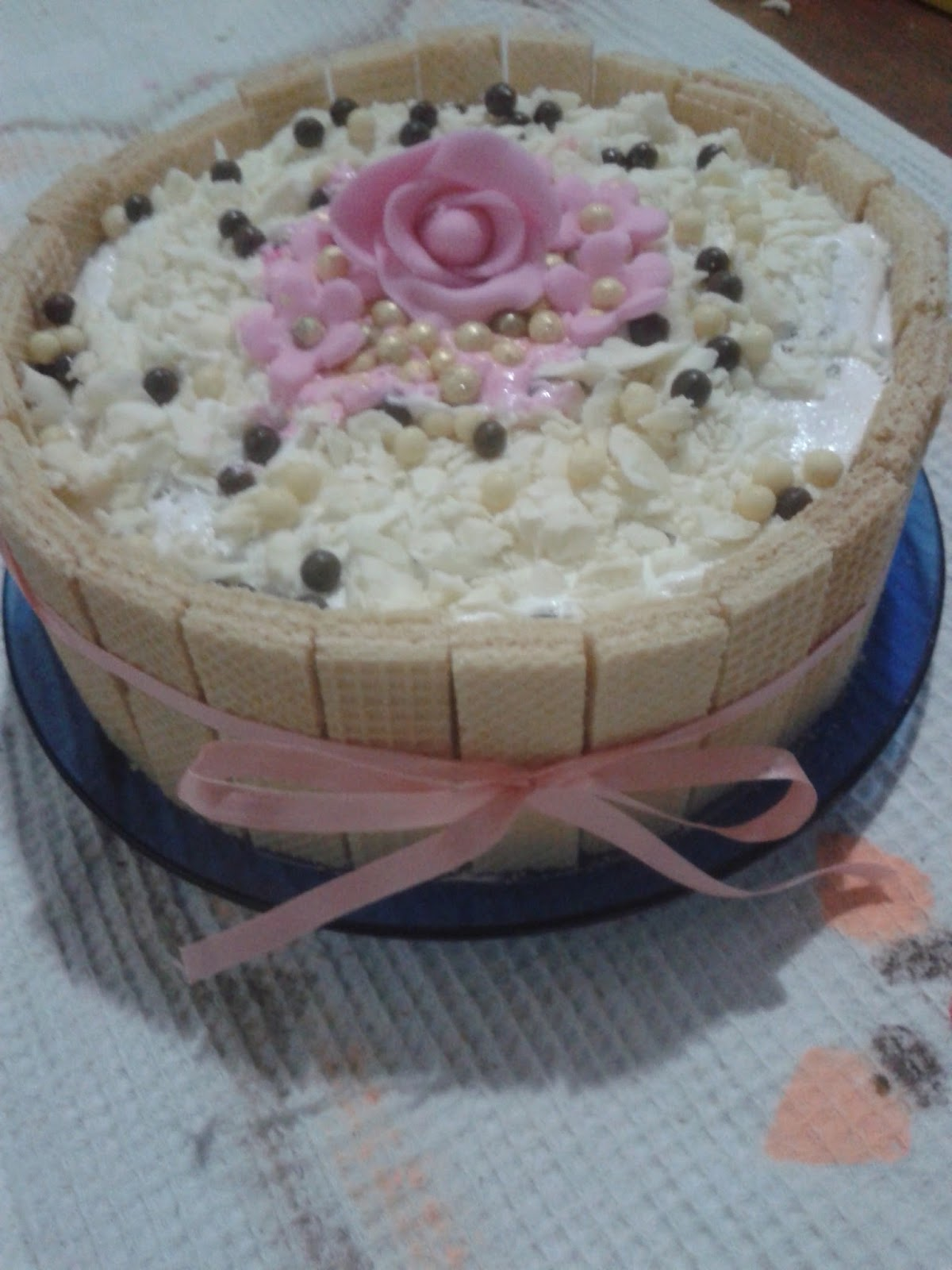 Enfeite De Torta ~ Balloon Fest Bolo decorado com biscoito wafer