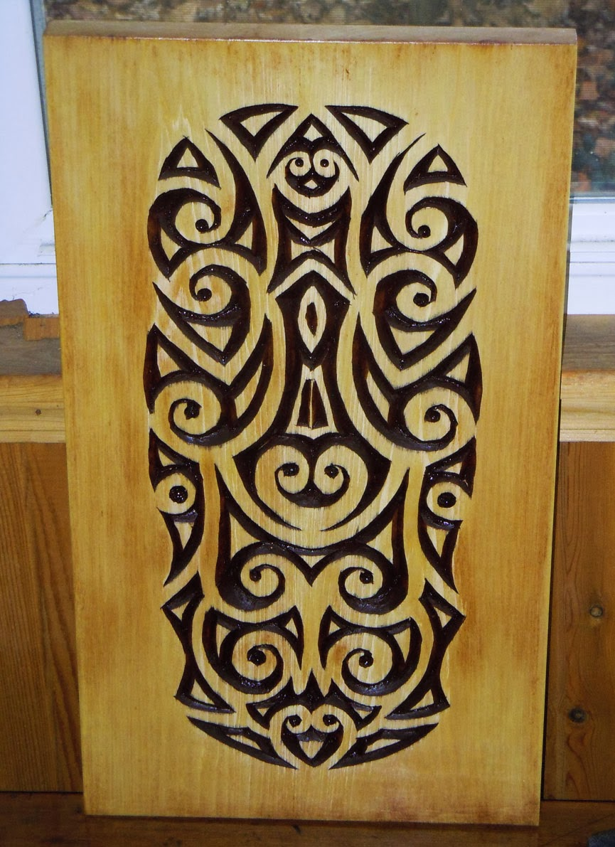 Hingst s sign post using relief cuts in woodcarving