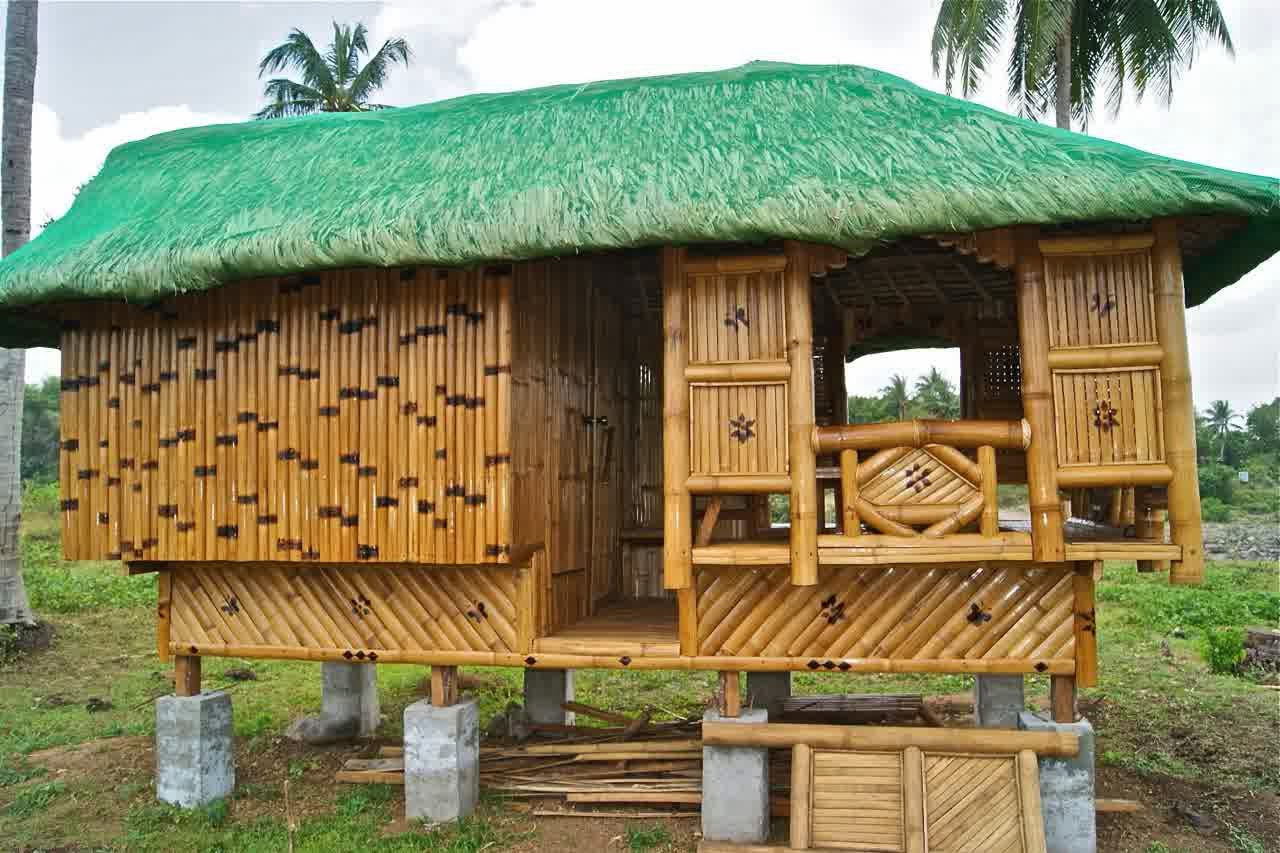 built bamboo house