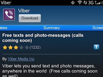 Viber v.2.1.14 for Blackberry