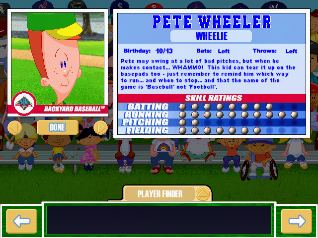 Wheeler Backyard Baseball Play Backyard Baseball The