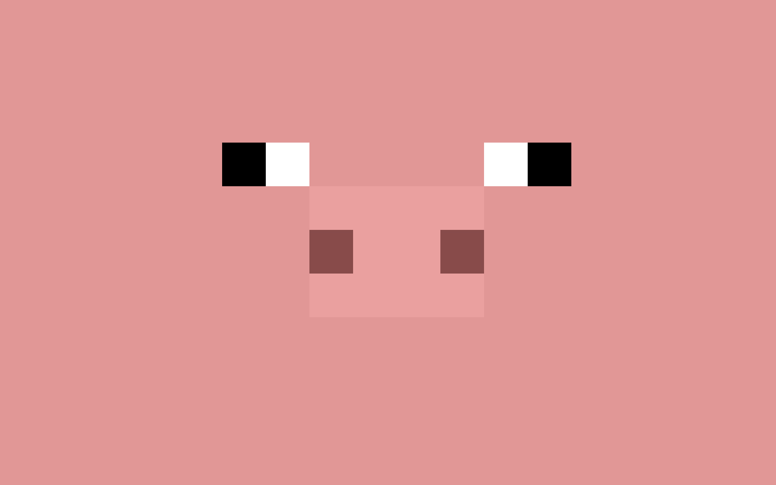 Minecraft pig desktop wallpaper