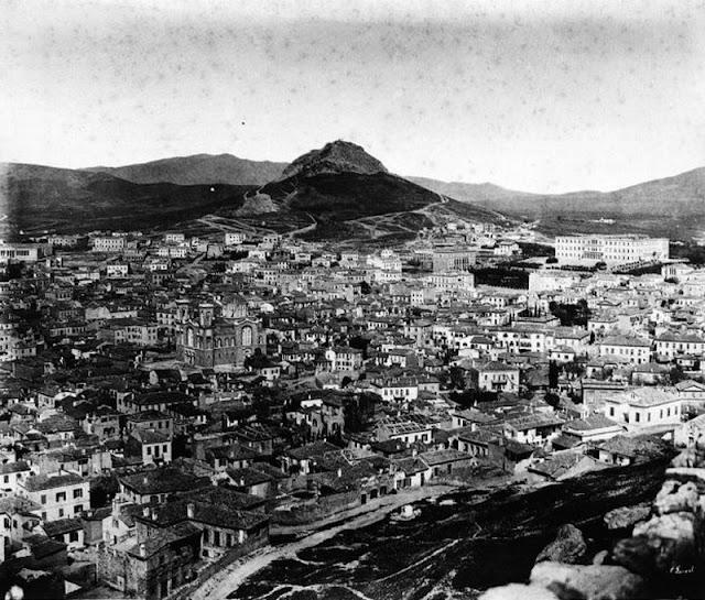 παλιά Αθήνα-παλιές φωτογραφίες της Αθήνας-Αθήνα–θέα από την Ακρόπολη-λόγια απλά