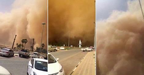 العاصفة الرملية في السعودية
