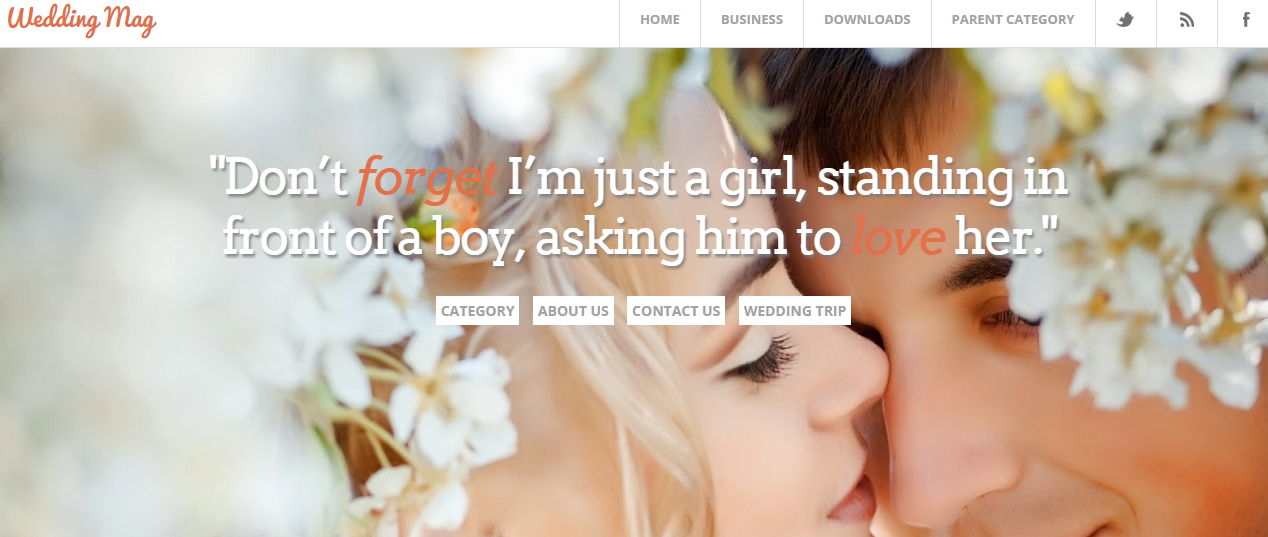 Download Wedding Mag Responsive Free Blogger Template