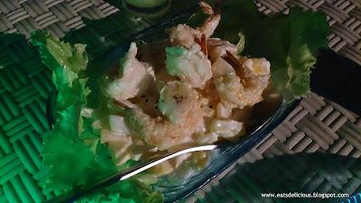 blue elephant in cebu hot prawn salad