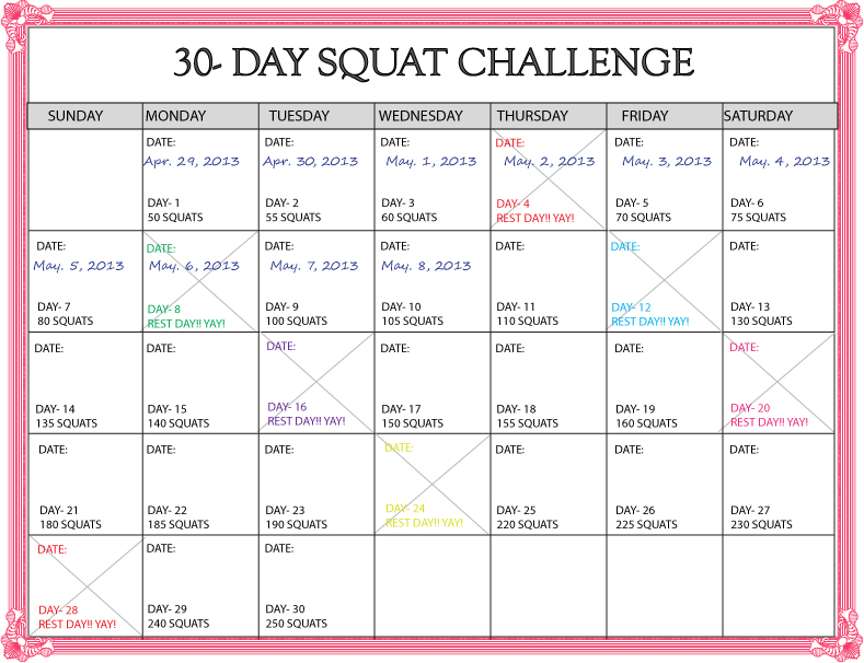 "Search Results for ""30 Day Challenge Calendar Template ..."
