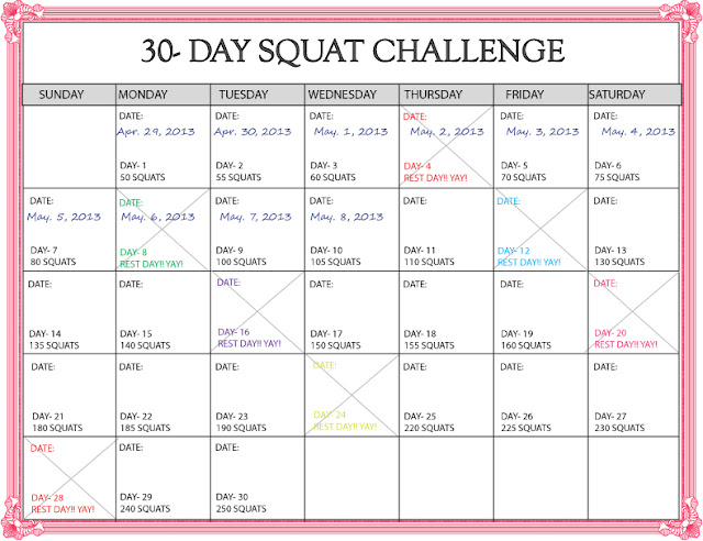 "... for ""30 Day Squat Challenge Calendar Printable"" – Calendar 2015"