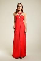 Rochie de seara, marca Dynasty, de culoare rosie ( )