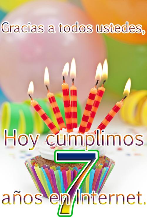 El Banco de Imágenes Gratis .Com cumple hoy 7 años en Internet y su autor 37 años de vida - Aniversario - Cumpleaños