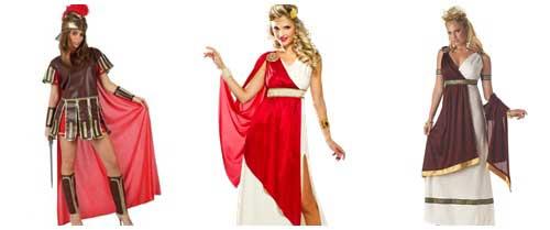 Como hacer un disfraz de romana en casa collage