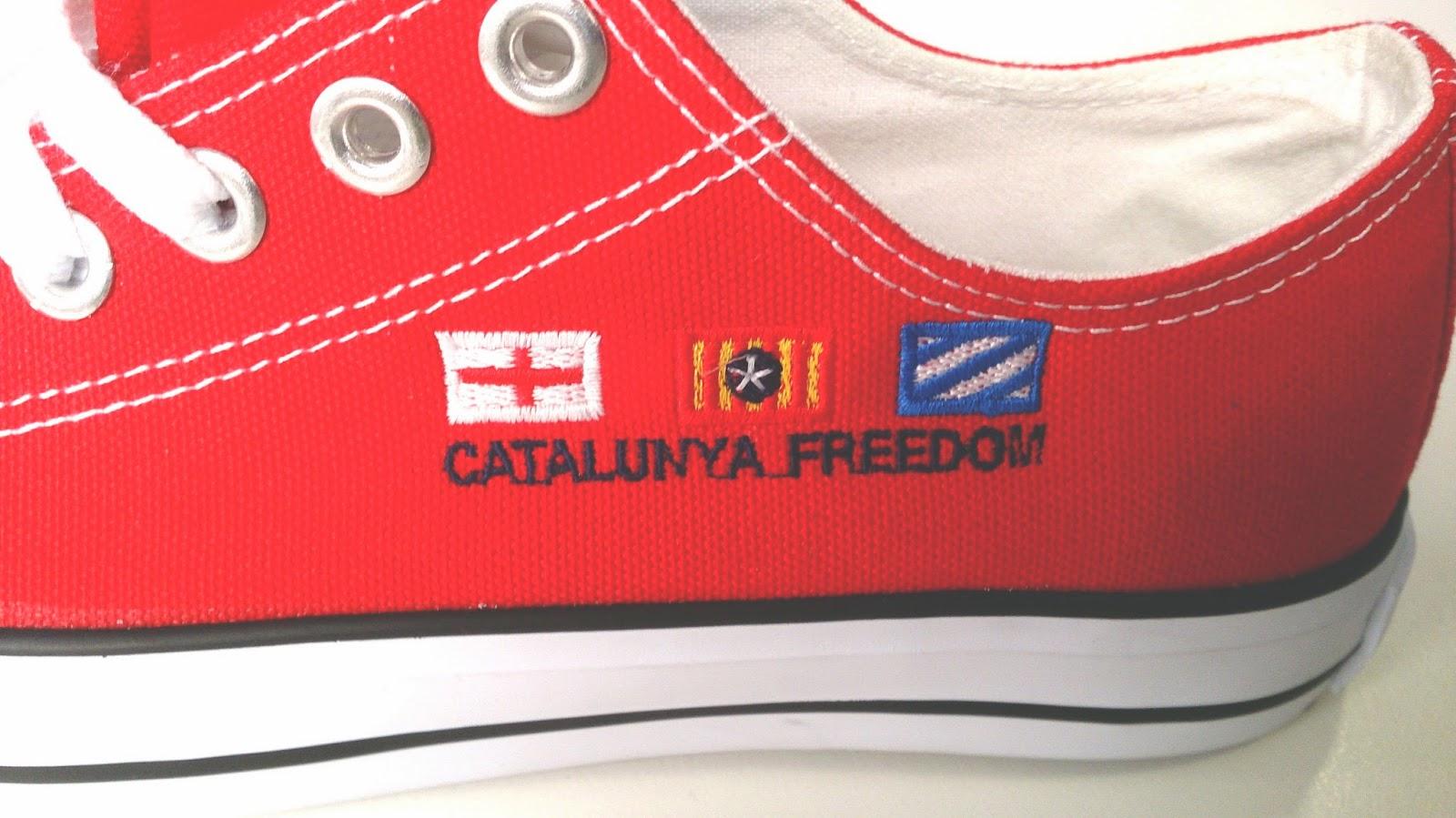 Calçat banderes catalanes