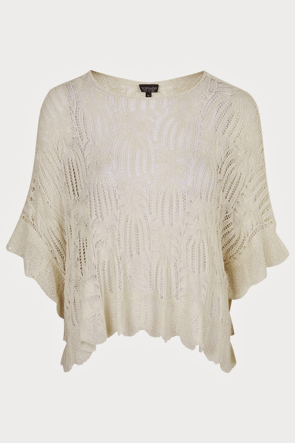 cream lace poncho