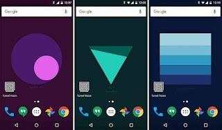 Keren.. Wallpaper Buatan Google Ini Bisa Menampilkan Info Baterai, Sinyal dan Notifikasi di Android