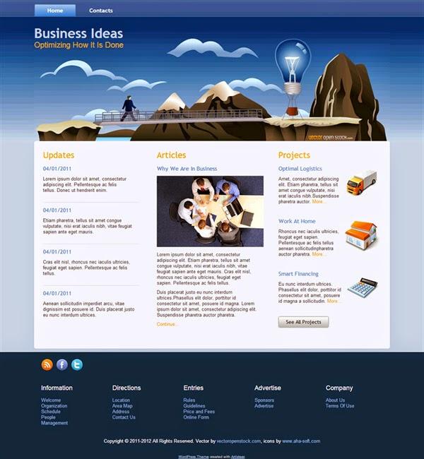 Business Ideas - Free Wordpress Theme