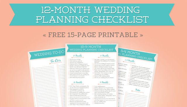 FREE 12-Month Wedding Planning Printable | Boone Photographer