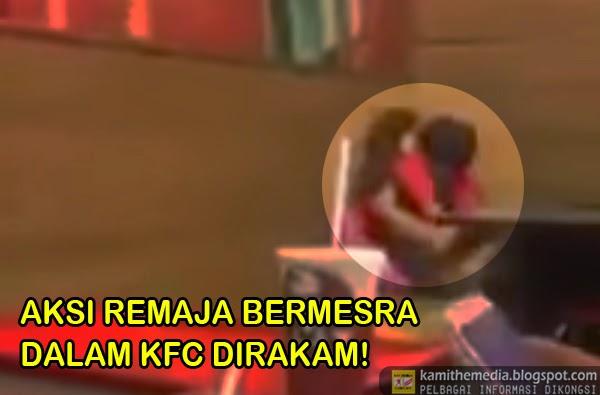 Aksi Hangat Pasangan Melayu di KFC Viral di Laman Sosial