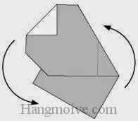 Bước 7: Xoay cho tờ giấy đứng xuống.