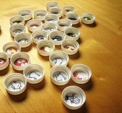 memotest con tapas plsticas de gaseosas juguetes reciclados